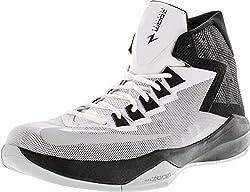 Nike Mens Zoom Devosion Whitemetallic Silverblack Basketball Shoe 8.5 Men Us