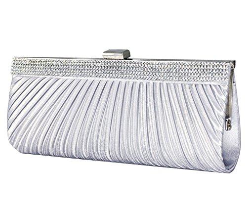 Silver Satin Clutch Bag...