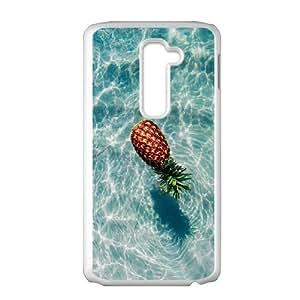Diy Beautiful Pineapple Custom for LG G2 White Shell Phone Cover Case LIULAOSHI(TM) [Pattern-5] by runtopwell