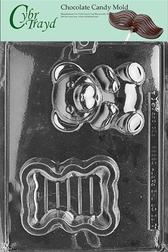 - Cybrtrayd Life of the Party A061 Teddy Bear Pour Box A068 Po Animal Chocolate Candy Mold in Sealed Protective Poly Bag Imprinted with Copyrighted Cybrtrayd Molding Instructions