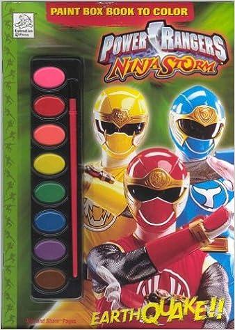 Power Rangers Ninja Storm Ninja Power Paintbox Book to Color ...