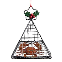 Beach Themed Christmas Ornaments Kurt Adler Wire Hanging Cage with Crab Christmas Ornament beach themed christmas ornaments