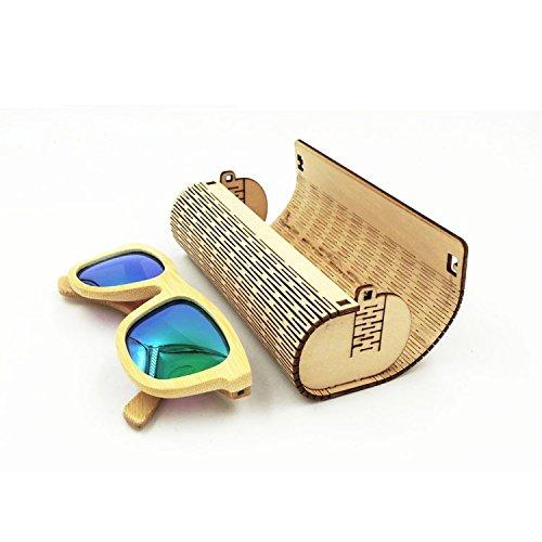 farway 1pieza Caja de madera de bambú para gafas de sol ...