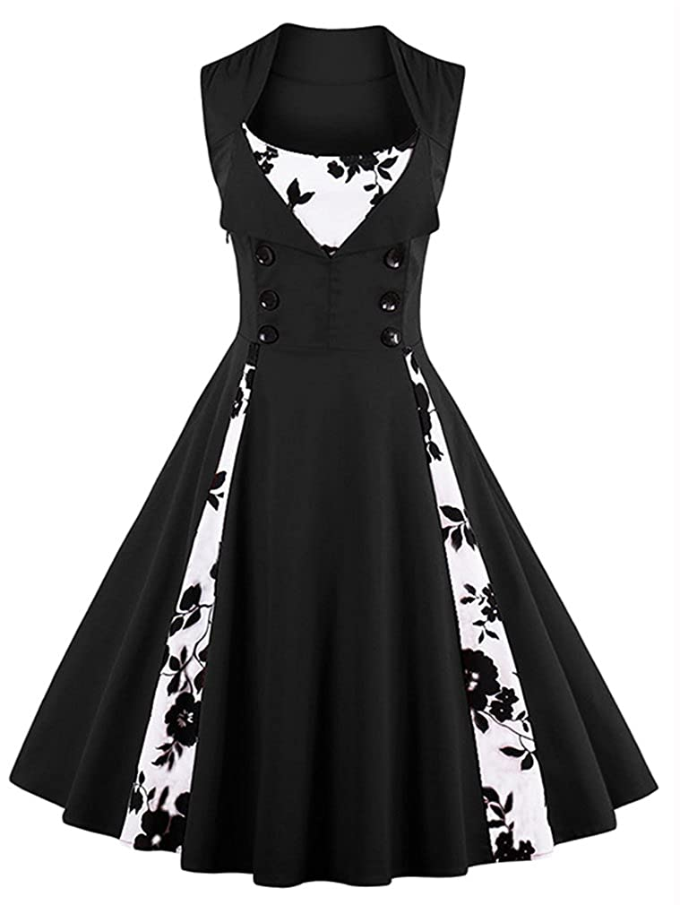 297f045c8fb Amazon.com  Killreal Women s Polka Dot Retro Vintage Style Cocktail Party  Swing Dresses  Clothing