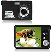 Cewaal Digital Camera,3 Colors 2.7 TFT LCD HD 18MP Mini Camera Anti-Shake Camcorders Video