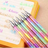 VIBGYOR PRODUCTS Diamond Crystal Rainbow Glitter Color Pens, Neon Pen Good Gift for Coloring Kids Sketching Painting Drawing (Set of 3)