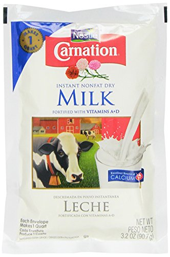 Nonfat Dry Milk Powder - Nestle Carnation Instant Nonfat Dry Milk, 3.2 oz (Pack of 1)