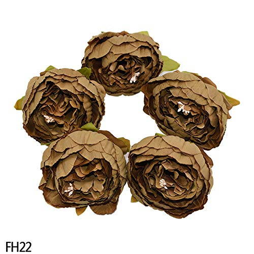 - Romanly 1/2/5/10Pcs 8Cm Peony Flower Head Silk Artificial Flowers Wedding Decoration DIY Garland Scrapbooking Craft Flower FH22 5pcs