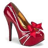 Women's Bordello Teeze 14 Heel Red 9