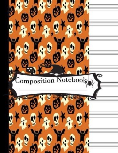 Composition Notebook 10 Staves 108 Page (Orange Cover):