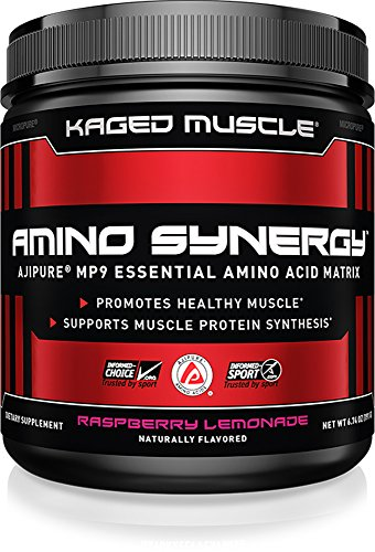 Amino Synergy, EAA Powder, Essential Amino Acid Supplement with Cocunut Water, Essential Aminos, EAAs, Raspberry Lemonade, 30 Servings