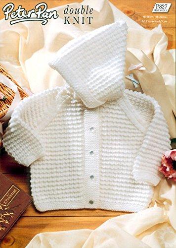 ba48a03ca Peter Pan Baby Hooded Jacket Knitting Pattern 827 DK  Amazon.co.uk ...