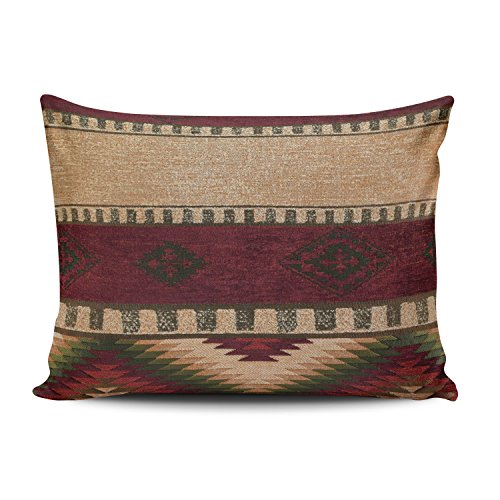 Fanaing Bedroom Custom Decor Geometric indian Native Wester Pillowcase Soft Zippered Coloured Throw Pillow Cover Cushion Case Fashion Design One-Side Printed Boudoir 12x16 -