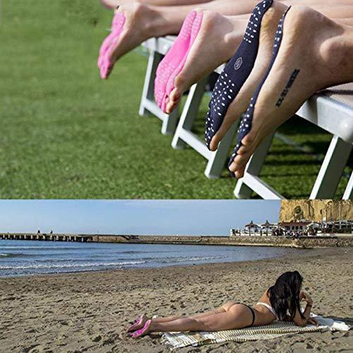 Strada Acqua Black Per A Spa In Da Adesivi Piedini Tappetini Spiaggia Con Scarpe Invisibile Spiaggia Piedi Suole 1 E Paio Piscina Antiscivolo Design Prato Di Impermeabile Parco Nudi nFx4tZw