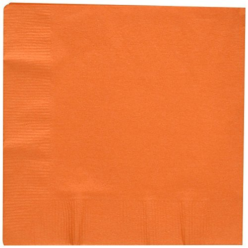 ed Orange beverage/cocktail napkins for wedding/party/event, 2ply, disposable, 5