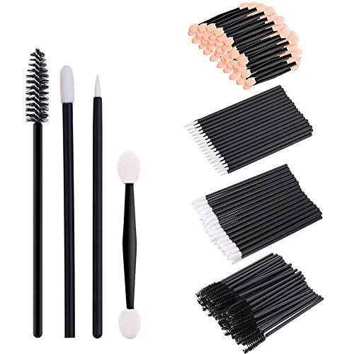 Bearals Disposable Makeup Applicators, Disposable Makeup Wands, Mascara Wands, Eyeliner Brushes, Lipstick Applicators, Eyeshadow Brushes, 200 Pcs Makeup Tool Kits