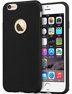 apple iphone 6 black. ikazen jali i6 heat dissipation hollow thin soft tpu back case for iphone 6/ 6s apple iphone 6 black