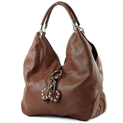 italien femme Präzise sac Farbe à nur Braun à sac cuir 330A bandoulière sac main cuir Sac sac Farbe wIUqSvxO