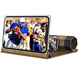 Screen Magnifier for Cell Phone,[Upgraded] Phone Accessories with Foldable Phone Stand 12″ HD Mobile Phone Projector for Movies and Videos iPhone Accessories Gadgets Tech Gifts for Men