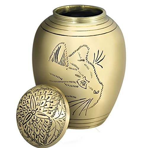Pet-Urns-for-Dogs-Ashes-by-Meilinxu-or-Cremation-Cat-Urns-for-Ashes-Hand-Made-in-Brass-and-Hand-Engraved-Attractive-Display-Burial-Urn-Dog-Memorial-and-Cat-Memorial-Animal-Model-Large