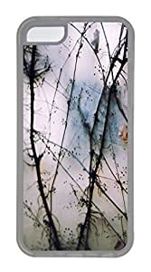 iPhone 5C Case, Customized Protective Soft TPU Clear Case for iphone 5C - Vine01 Cover