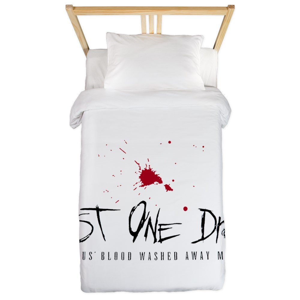 Twin Duvet Cover Just One Drop of Jesus Blood by Royal Lion