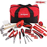 Hi-Spec 160 Piece DIY & Repair Tool Set Kit Bag with 4.8V Dual Position Cordless Power Screwdriver with Precision Screw Insert Bit Set, Box Cutter Knife, Hammer, Wrench, Tape, Pliers & Wall Fixtures