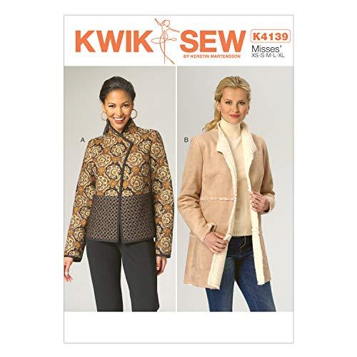 KWIK-SEW PATTERNS K4139 Misses' Jackets, All Sizes (X-Small-X-Large)