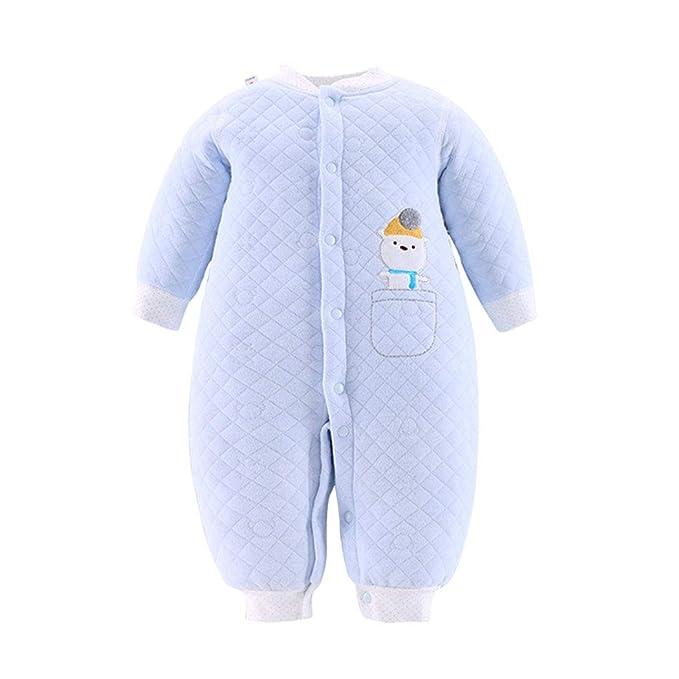 3c63b5de57 Mornyray Newborn Baby Organic Cotton Pajamas Romper Warm Snap Up Infant  Sleeper Size 0-3M