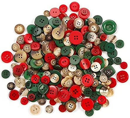 assorted christmas buttons 100grams - Christmas Buttons