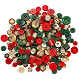 Assorted Christmas Buttons (100grams)