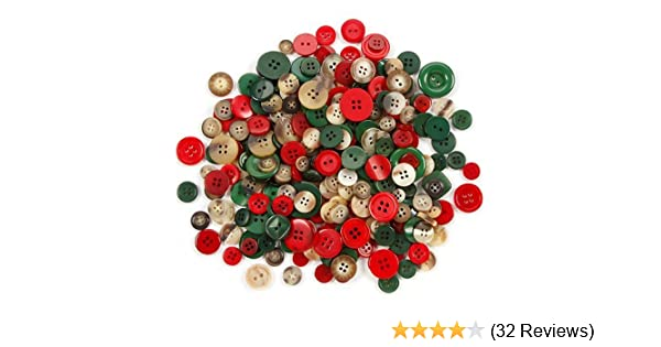 100grams Assorted Christmas Buttons