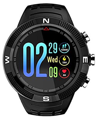 GPS Tracker Compass Sports Tactical Bluetooth Smart Watch Heart Rate Monitor Pedometer Waterproof Swimming Fitness Tracker by findtime