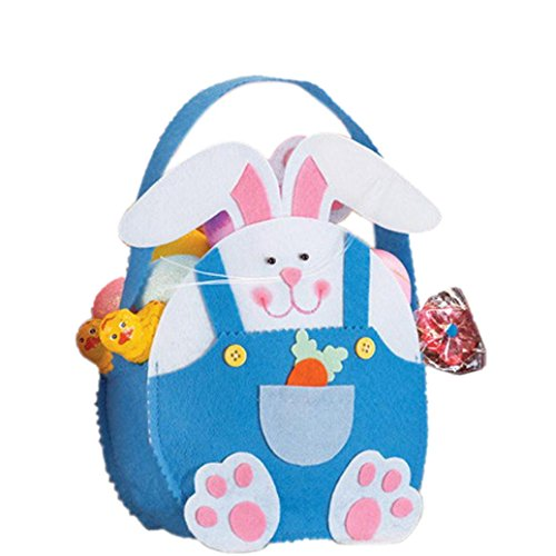 Candy Bags,Elevin(TM) Easter Rabbit Gift Candy Bag Creative Present Home Accessory (Blue)