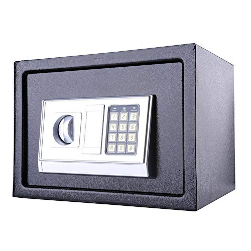 Security Safe, Value Safe Electronic Home Safe with LED Screen for Jewellery Money Office Home Black, 16L