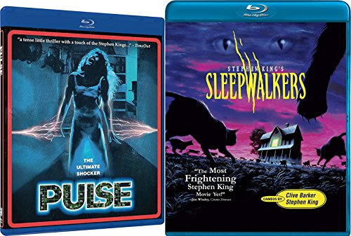 Stephen King Sleepwalkers + Pulse Shock horror Blu-ray Collection 2 Movie Bundle Set (Beetlejuice Little Head)