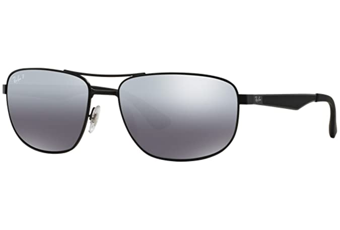8be04010ec Amazon.com  Sunglasses Ray-Ban RB 3528 006 82 MATTE BLACK  Clothing