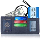 Travel Wallet Neck Pouch RFID Blocking Premium Safe & Reliable Holder Organizer for Money Passport, Credit Card and Document