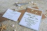 Custom Invitations, Burlap Wedding Invitation, Beach Wedding Invitation, Destination Wedding Invitation, Unique Invitations - SAMPLE