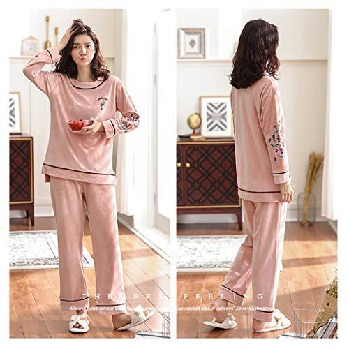 Una Pueden color Traje Mujeres Domicilio Pink E Delgada Pijamas Usar Invierno Coral Servicio Sección Dulce Informal Las De Dulce A Pink Size Sg qUIxwnES