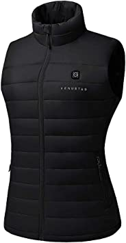 [2019 Upgrade] Women's Heated Vest with Battery Pack, YKK Zippers and Water&Wind Resistant