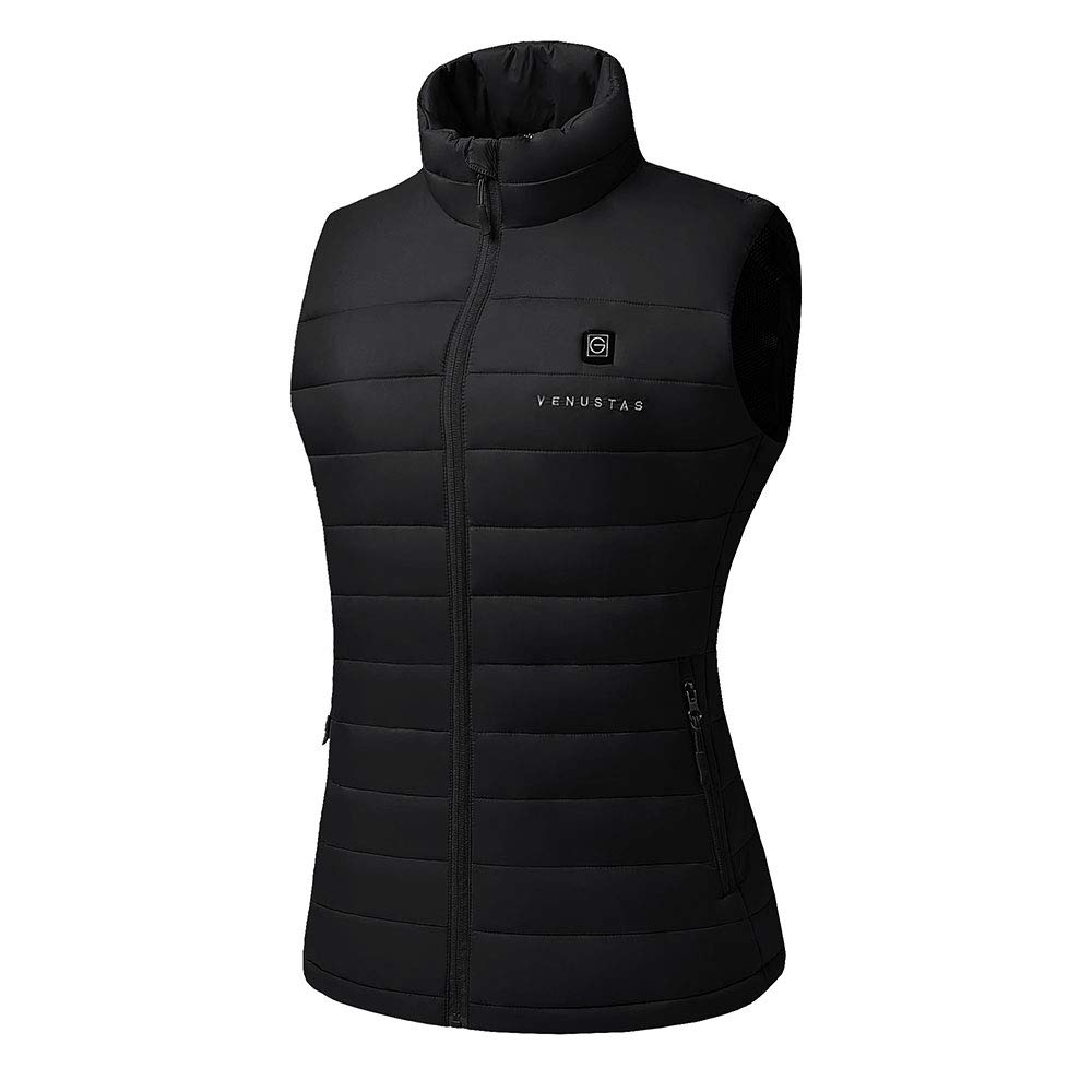 [2020 Upgrade] Women's Heated Vest with Battery Pack YKK Zippers and Water&Wind Resistant