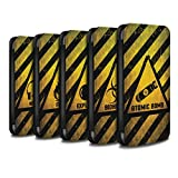STUFF4 PU Leather Wallet Flip Case/Cover for Apple iPhone X/10 / Pack 10pcs Design / Hazard Warning Signs Collection