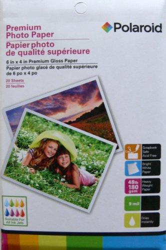 Polaroid Premium Glossy Photo Paper 6 in X 4 in (3 Pack, 20 Sheets Per - Polaroid Usa