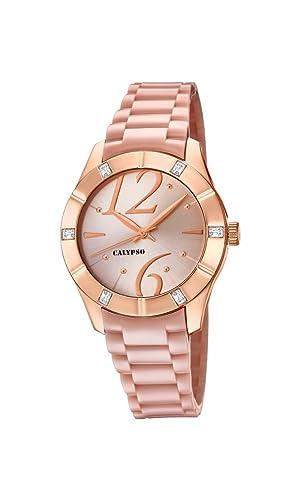 Calypso Reloj Análogo clásico para Mujer de Cuarzo con Correa en Plástico K5715/2: Calypso: Amazon.es: Relojes