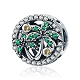 PHOCKSIN Jewelry 925 Sterling Silver Bead Charms Palm Tree fit Summer Bracklets for Women