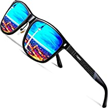 ATTCL Mens Driving Polarized Wayfarer Sunglasses Al-Mg Metal Frame Ultra Light