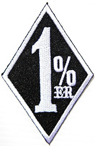 One 1% Er 1 Percenter Sportster Hog Outlaw Motorcycles Chopper Rider Biker Jacket T-shirt Patch Sew Iron on Embroidered Badge Sign (Bike Week Chopper Motorcycle T-shirt)