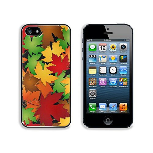 Liili Premium Apple iPhone 5 iphone 5S Aluminum Backplate Bumper Snap Case IMAGE ID 22966960 Seamless maple leaves pattern in fall or autumn season colors