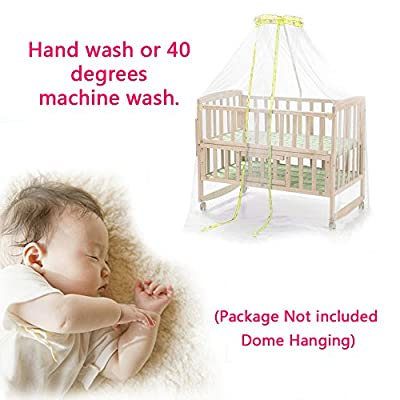 Mosquito Netting for Baby, Crib Canopy Bed Cover with White Mesh Playpen, Dome Princess Bassinet Net Play Tent Bedding for Kids & Protect Toddler Safety, Suitable Most Cribs (Not Include Hanging Dome)